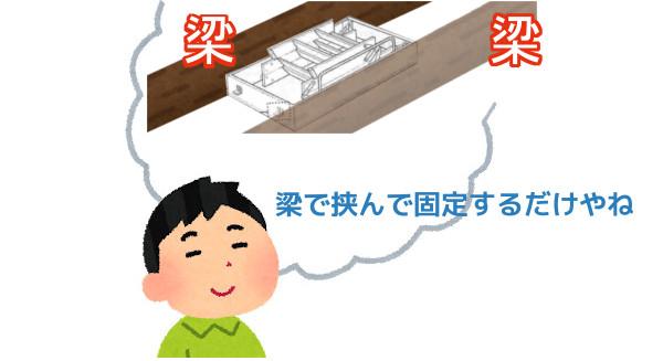 屋根裏 DIY 階段